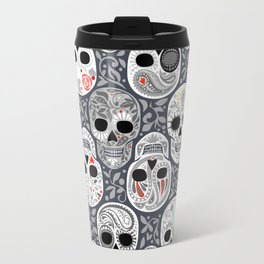 Celebracion de Gris_Sugar Skulls_Calaveras_Repeat_RobinPickens Travel Mug