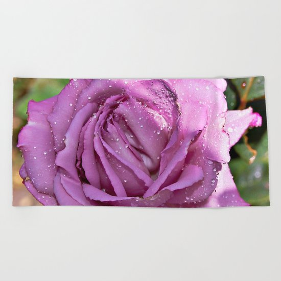 A Rose is a Rose Beach Towel