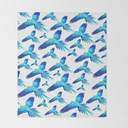 Blue flight Throw Blanket