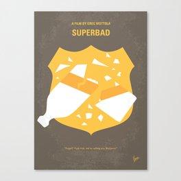 No315 My Superbad minimal movie poster Canvas Print