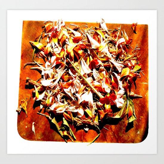 Flowers on a table 2 Art Print