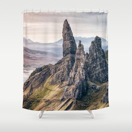 Old Man of Storr, Isle of Skye, Scotland Shower Curtain