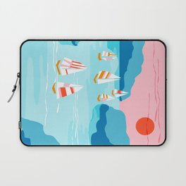 Tight - memphis throwback retro vintage classic sport boating yachting sailboat harbor sea ocean art Laptop Sleeve
