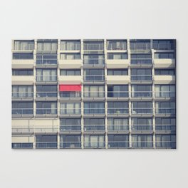Red Awning Canvas Print