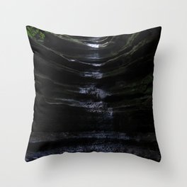 Waterfall at Starved Rock State Park Throw Pillow