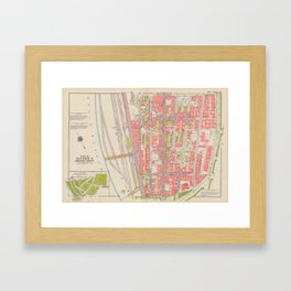 Borough of the Bronx Vintage Map 1 Framed Art Print