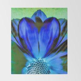 Daisy Blue Throw Blanket