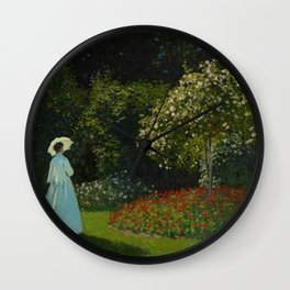 Lady in the garden Wall Clock