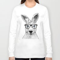 kangaroo Long Sleeve T-shirts featuring kangaroo by  Steve Wade ( Swade)