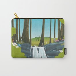 Yosemite National park waterfall. Carry-All Pouch