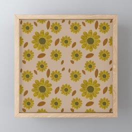 Sunflower Pattern #1 Framed Mini Art Print