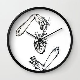 Heart in your hands Wall Clock