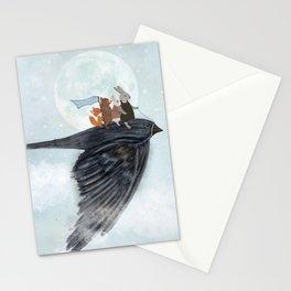 the light bird Stationery Cards