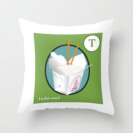 Take Out Flash Card Throw Pillow
