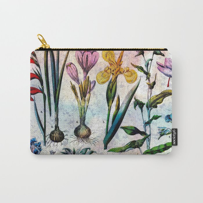 Bright Botanical Carry-All Pouch
