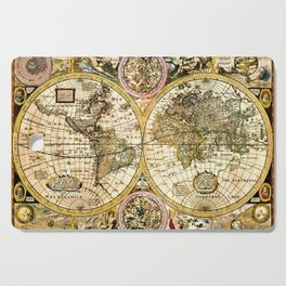 Gorgeous Old World Map Art from 15th Century Cutting Board