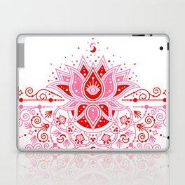 Lotus Blossom Mandala – Red & Pink Palette Laptop & iPad Skin