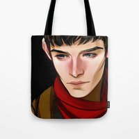 merlin Tote Bags featuring Merlin by MJ Erickson