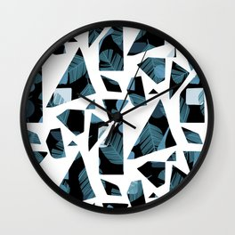 Feather Shards Wall Clock