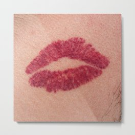 Kiss mark Metal Print