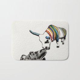 COW Eating a Dress Bath Mat