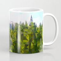 forrest Mugs featuring Forest Green by IvanaW