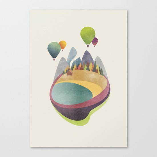 Balloons above Little Beach Canvas Print