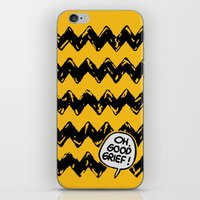 charlie brown iPhone & iPod Skins featuring CHARLIE CHEVRON by John Medbury (LAZY J Studios)