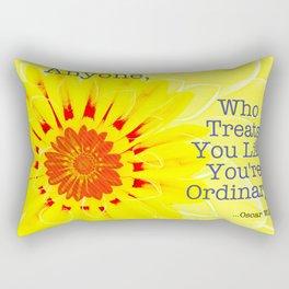 Oscar Wilde Quote Rectangular Pillow