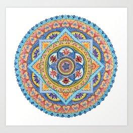 Passiflora Mandala #1 Art Print