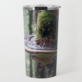 Magical Fungi World   Nature Photography Travel Mug
