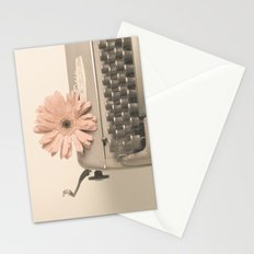 Soft Typewriter (Retro and Vintage Still Life Photography) Stationery Cards