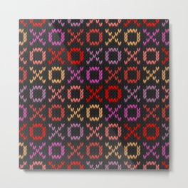 XOXO pattern - dark Metal Print