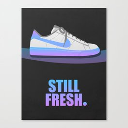 Still Fresh. (Faux 80's Sneaker Ad) Canvas Print