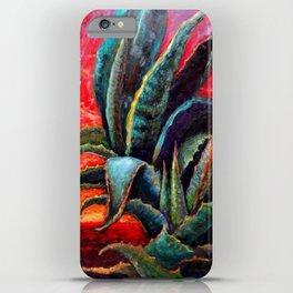 Southwest-western Style Desert Agave in Sunrise iPhone Case