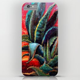 Southwest-western Style Desert Agave in Sunrise iPhone Case