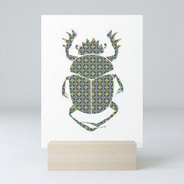 beetle with pattern Mini Art Print