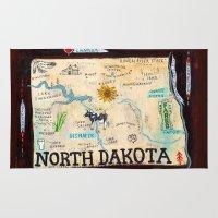 fargo Area & Throw Rugs featuring NORTH DAKOTA by Christiane Engel
