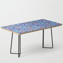I don't need to improve - Blue and pink Coffee Table