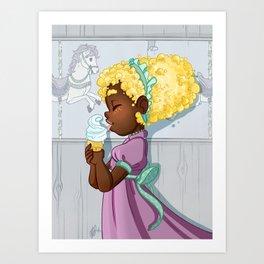Popcorn Carousel Art Print