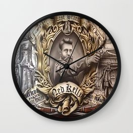 Ned Kelly (The Last Stand) Wall Clock