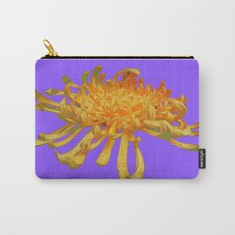 Lilac Purple Abstract of Golden Yellow Spider Mum Carry-All Pouch
