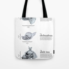 Dog Skull Comparison Tote Bag