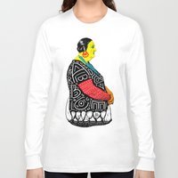 fat Long Sleeve T-shirts featuring Fat Woman by R. Gorkem Gul
