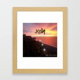 GODS SKY Framed Art Print