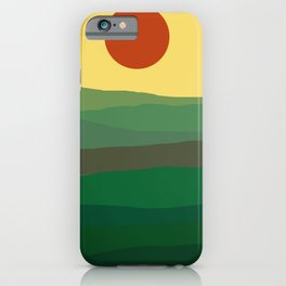 Abstract green landscape iPhone Case