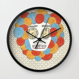 Sentiments Unannounced But In Tired Eyes Wall Clock