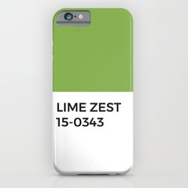 Lime Zest Pantone Chip • Green • Summer • Margarita • Foodie • Kitchen • Simple Print • Bold Color iPhone Case