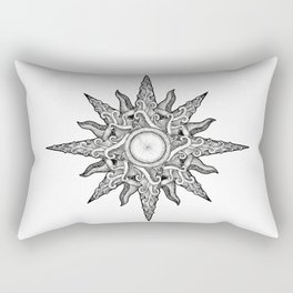 Surf in a Windrose – Compass (tattoo style) Rectangular Pillow