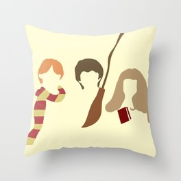 Baby Wizard Trio Throw Pillow